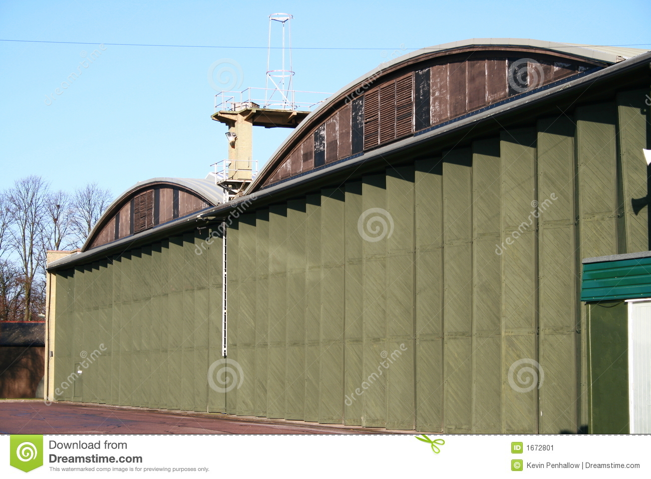 Aircraft Hangers   World War 2 Stock Image   Image  1672801
