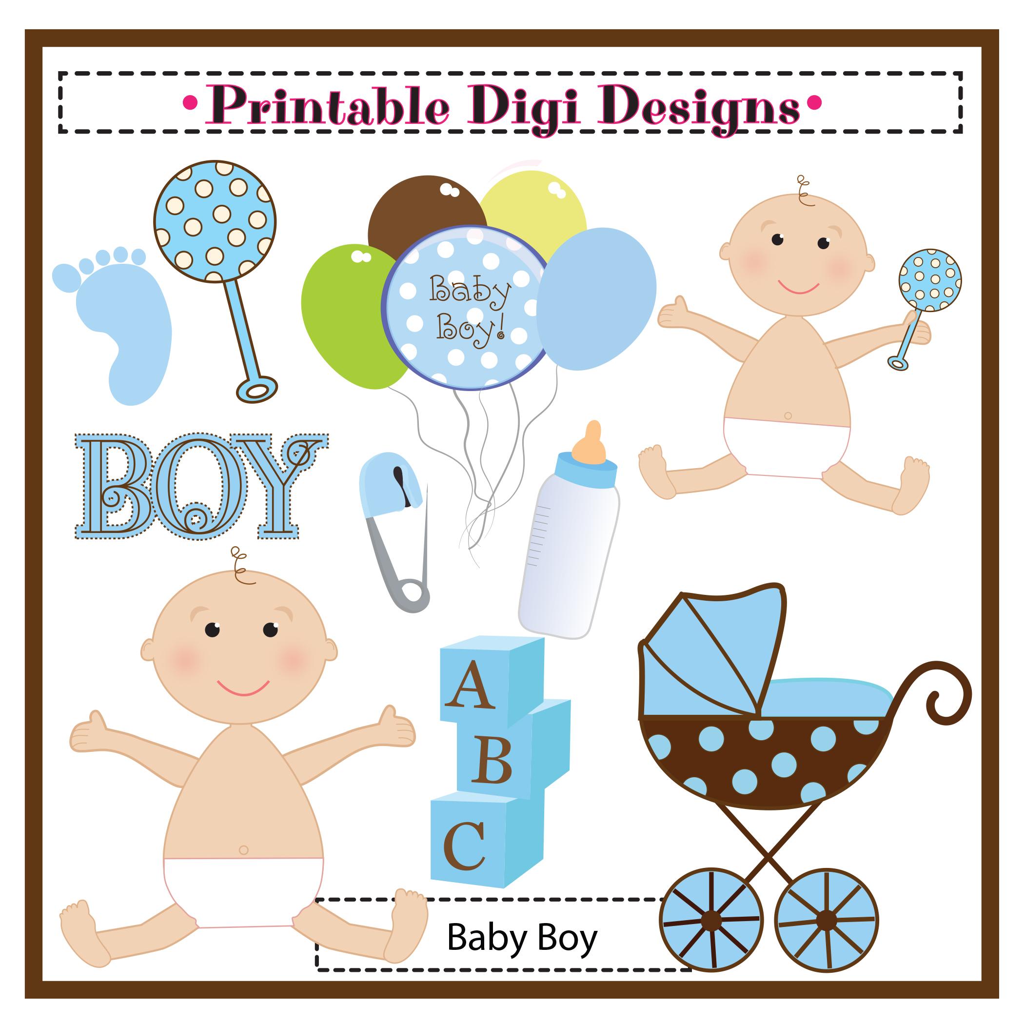 Boy Baby Shower Clipart - Clipart Kid