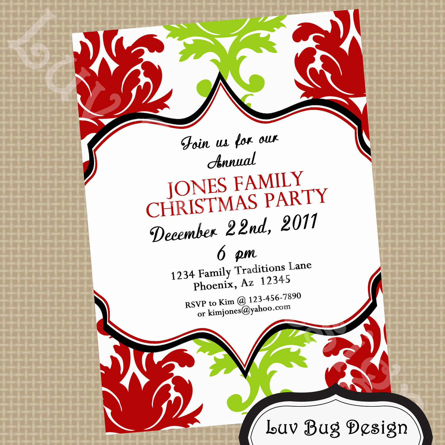 Holiday Party Invite Template is adorable invitation layout