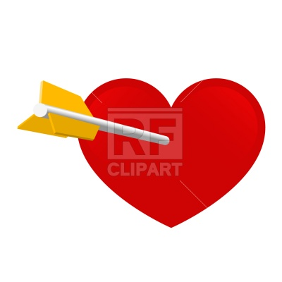 Clipart Catalog   Holiday   Arrow And Heart Download Royalty Free