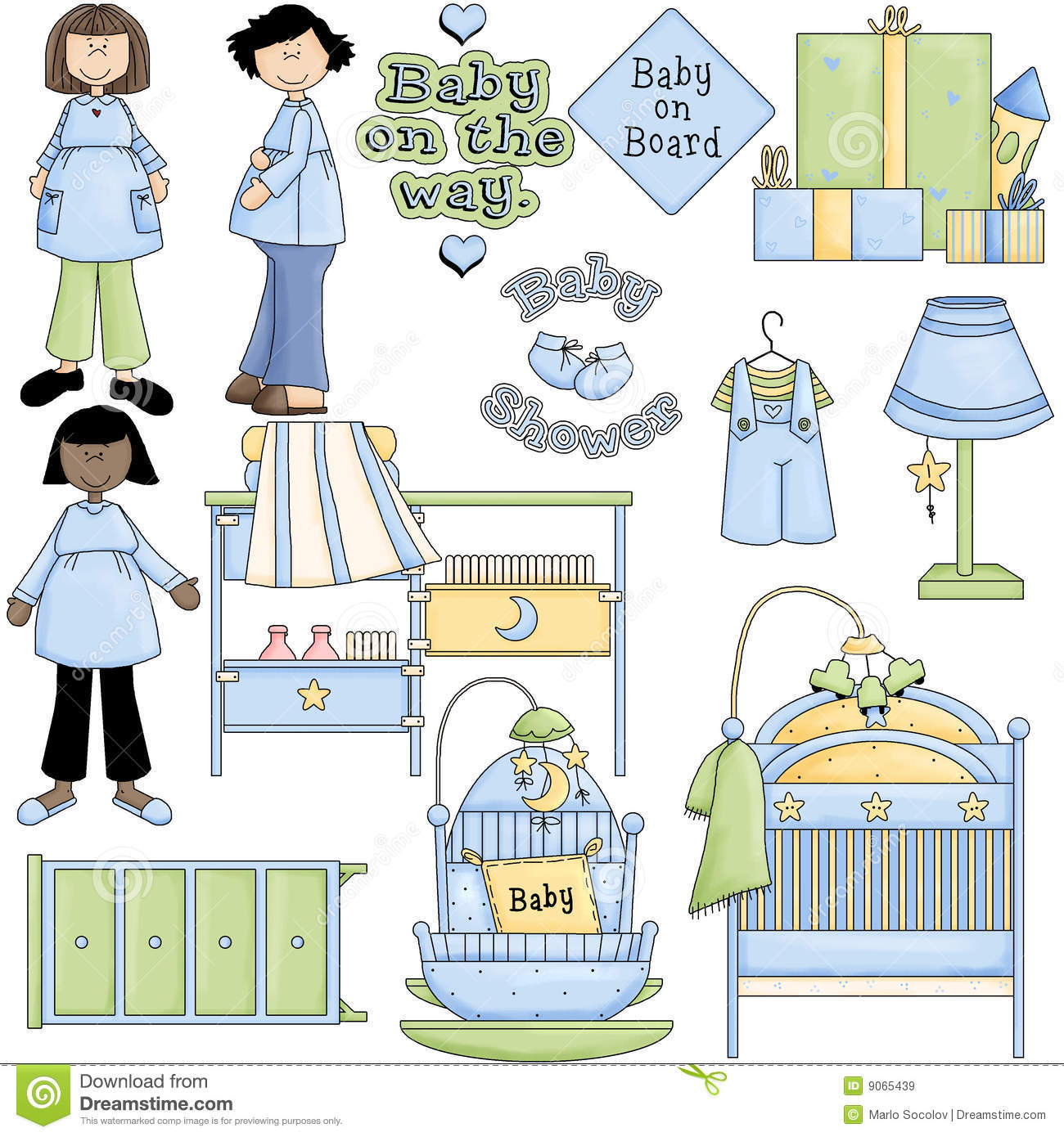 free baby shower clipart boy - photo #40