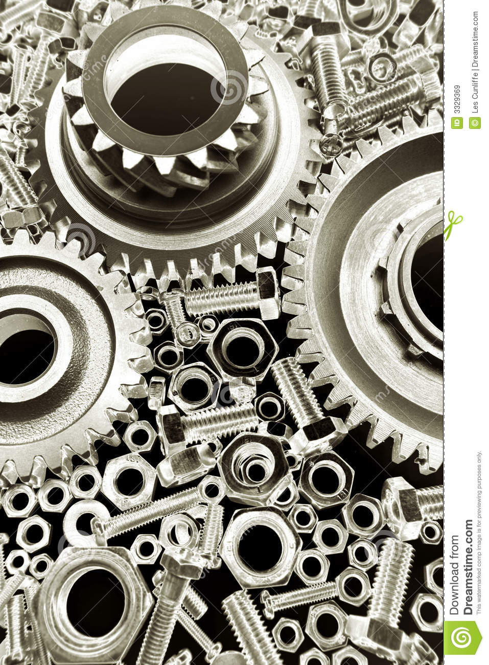 Gears Nuts   Bolts Royalty Free Stock Images   Image  3329369