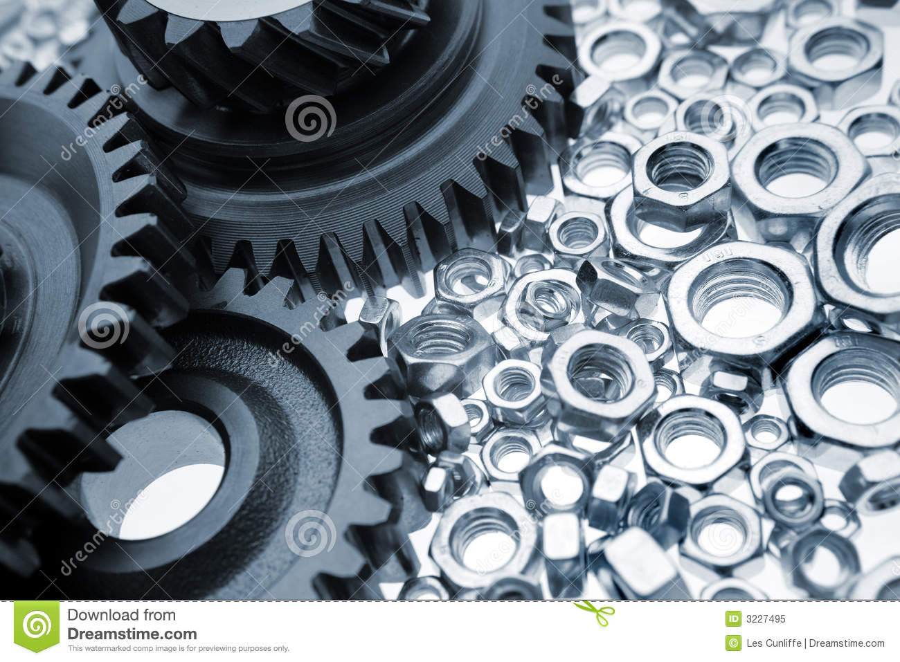 Gears   Nuts Royalty Free Stock Photo   Image  3227495