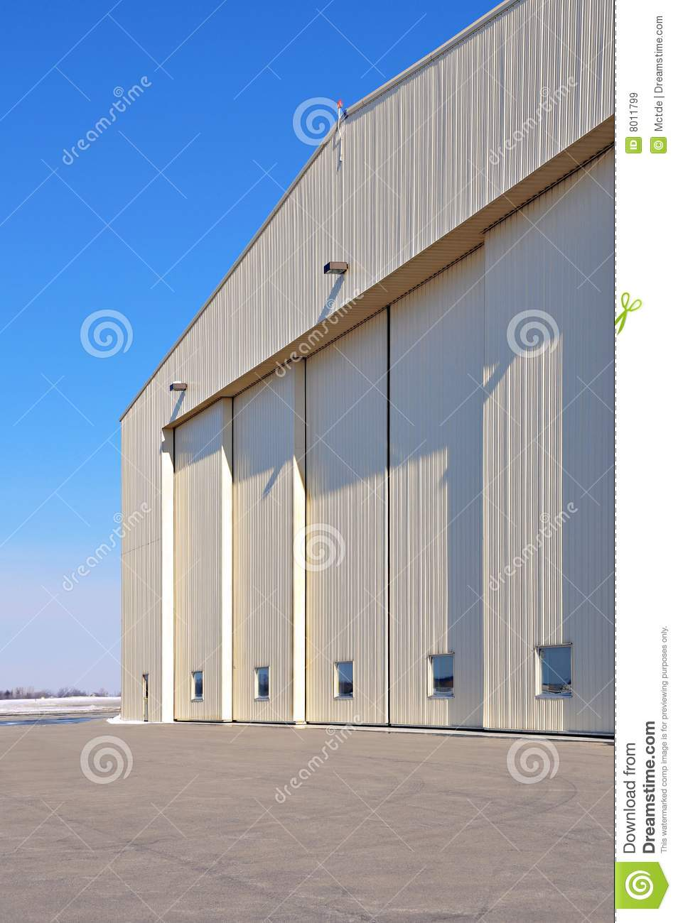 Large Private Aircraft Hanger In An International Airport In Canada