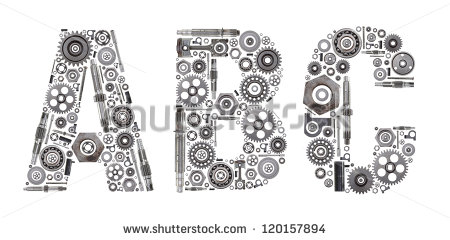 Made Out Of Nuts Bolts Gears And Other Car Parts    Stock Photo