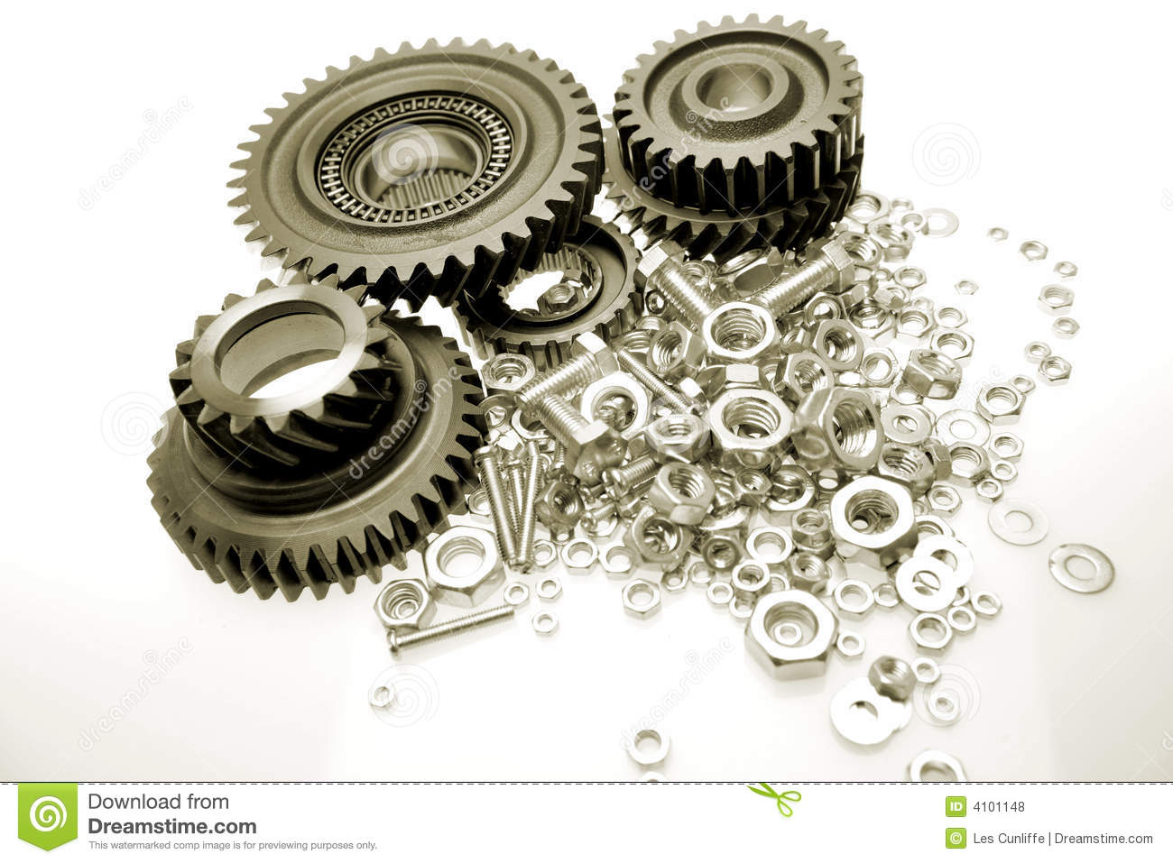 Royalty Free Stock Photos  Gears Nuts   Bolts