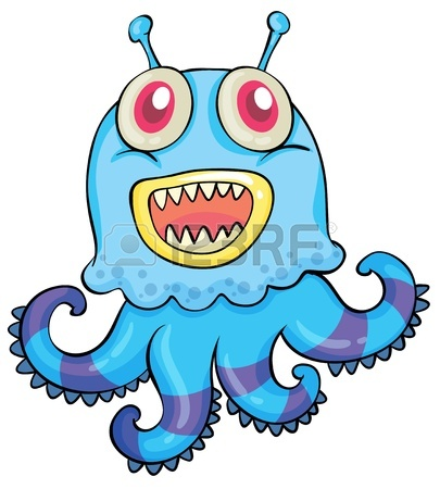 Scary Cartoon Monster 15249976 Illustration Of A Scary Monster On A