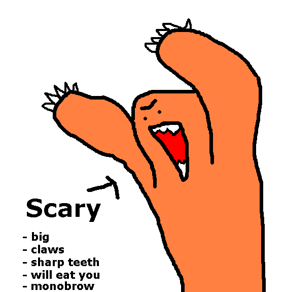 Scary Monster Drawings Scary Monster Png