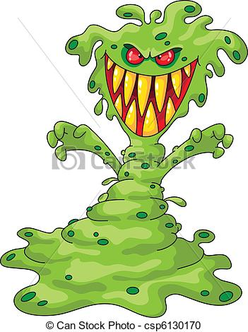 Scary Shadow Monster Clipart