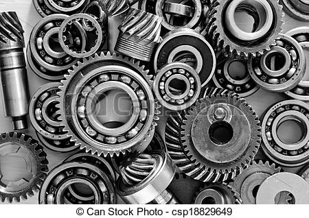 Stock Photo   Metal Gears Nuts And Bolts   Stock Image Images