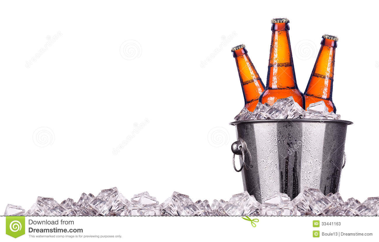 Stock Photos  Beer Bottles In Ice Bucket Isolated