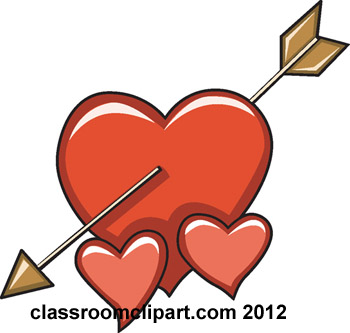 Valentines Day   Heart With Arrow 176   Classroom Clipart