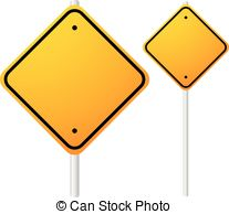 Blank Orange Roadsigns With Empty Space On Metal Poles  Smaller