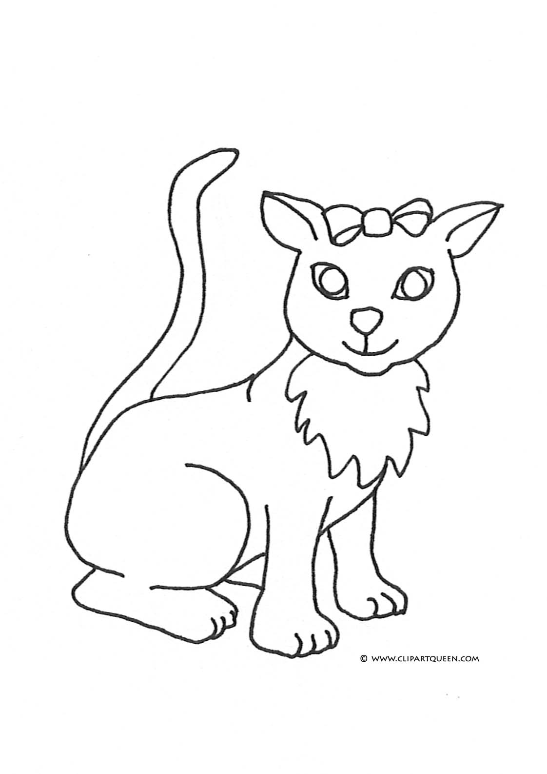 realistic cat coloring pages - big realistic cat clipart clipart suggest