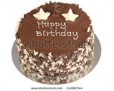 Chocolate Birthday Cake Stock Photo 114962344   Shutterstock