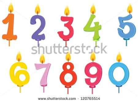 Illustration Of Birthday Candles On A White Background   Stock Vector