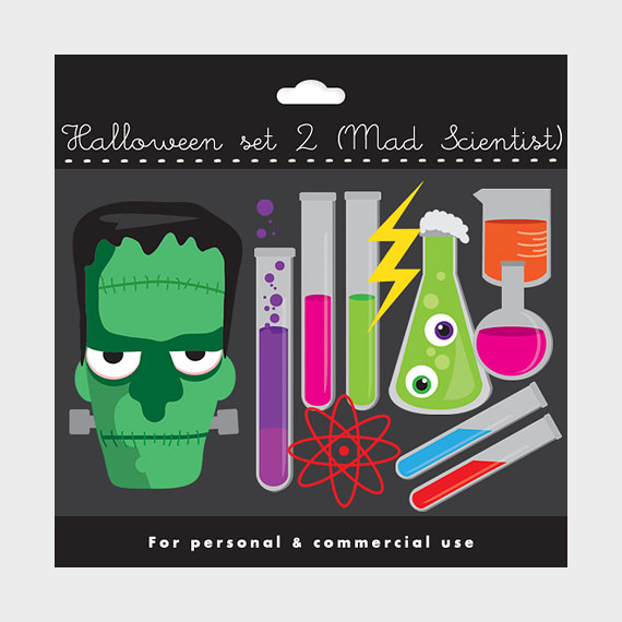 Mad science lab clip art