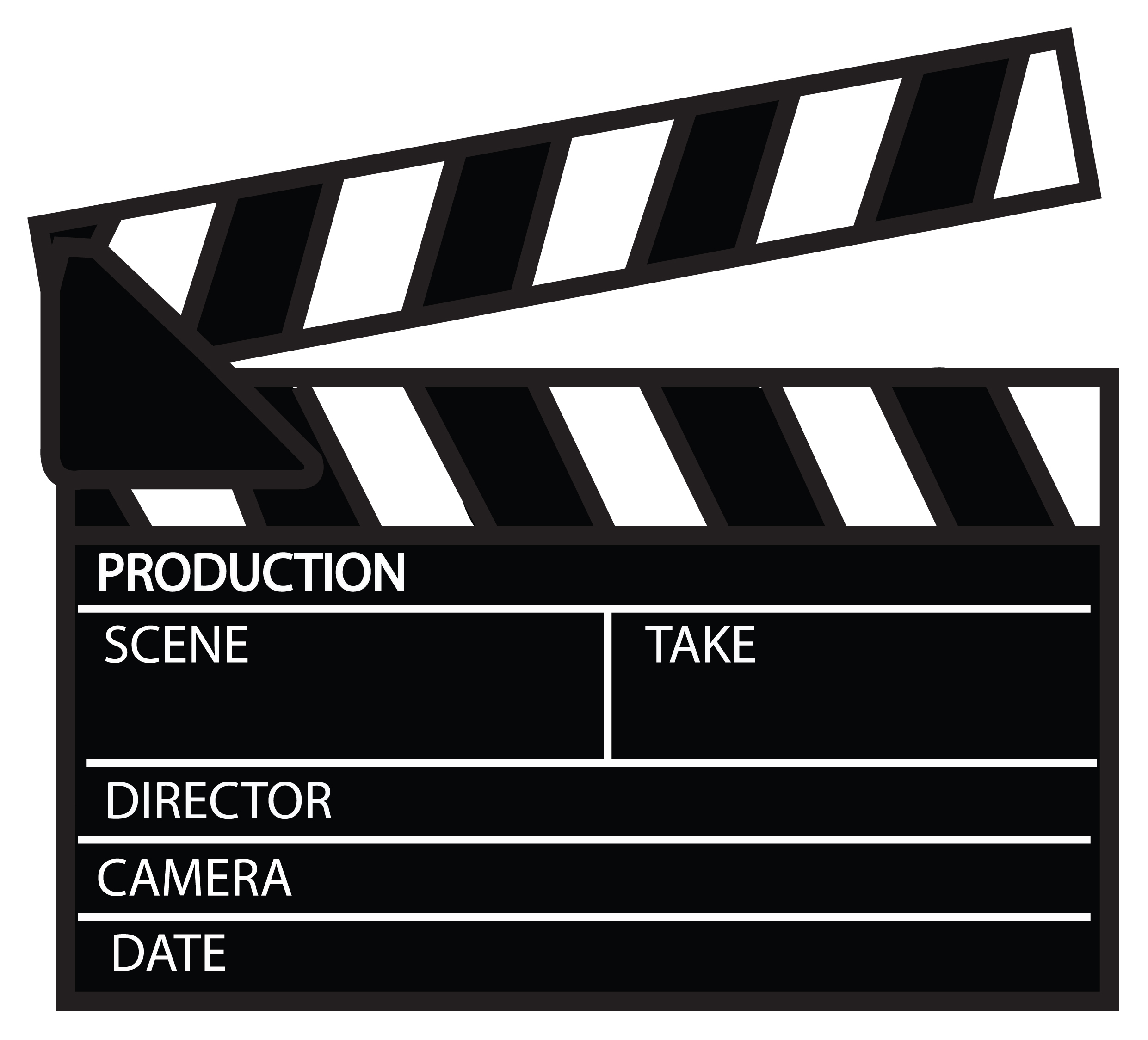 Movie Clapper Board Clip Art
