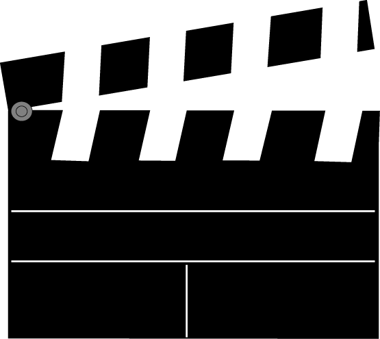 Movie Clapperboard Clip Art Image   Movie Clapperboard With Divider