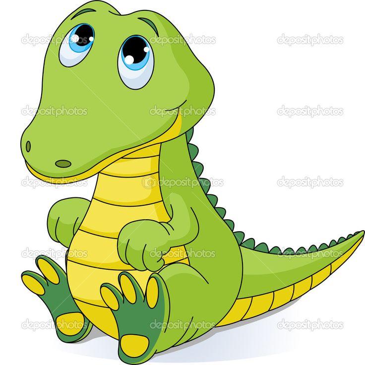 Baby Alligator Clip Art   Baby Crocodile   Stock Vector   Anna