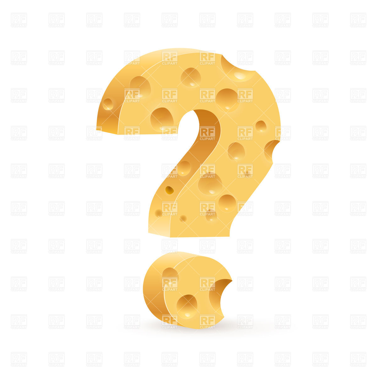Cheesy Question Mark 30863 Download Royalty Free Vector Clipart  Eps