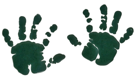 Tulip Baby Couture   Baby Hands Multi Surface Stencils   Stencils And
