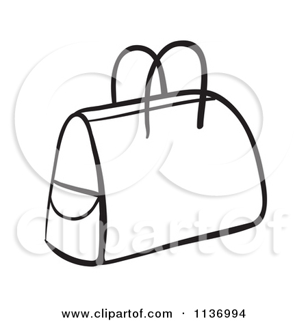 Clip Art Black And White Purse Clipart - Clipart Suggest Purse Clipart Black And White