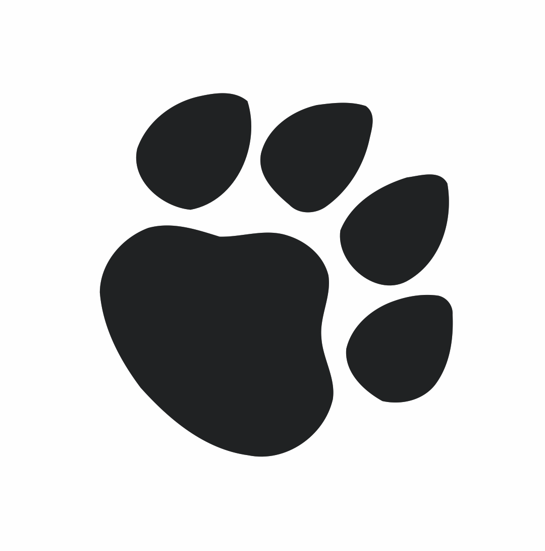 Cat Paw Print Black And White Clipart - Clipart Kid