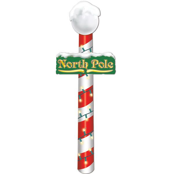 Christmas North Pole Sign   4ft  4 99   Christmas Decorations   Pinte