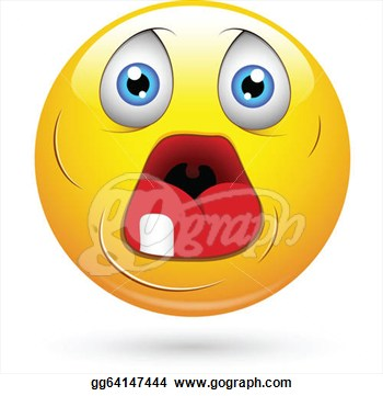 Dumb Old Face With Open Mouth Smiley Character  Clipart Illustrations