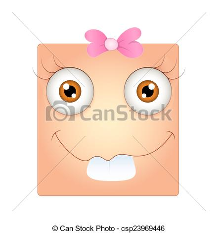 Eps Vector Of Funny Dumb Smiley Face Expression Vector Illustration