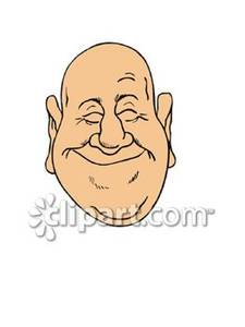 Happy Bald Man   Royalty Free Clipart Picture