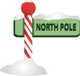 Like Cartoon Santa At The North Pole North Pole Sign Cartoon