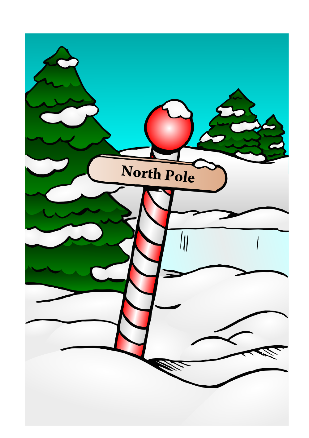 North Pole Christmas Xmas Holiday Coloring Book Colouring Coloring