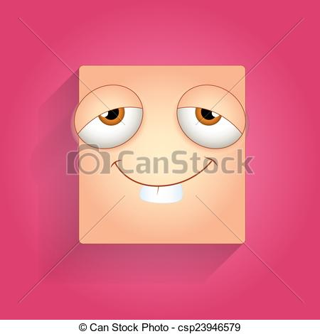 Vector   Dumb Funny Face Smiley   Stock Illustration Royalty Free