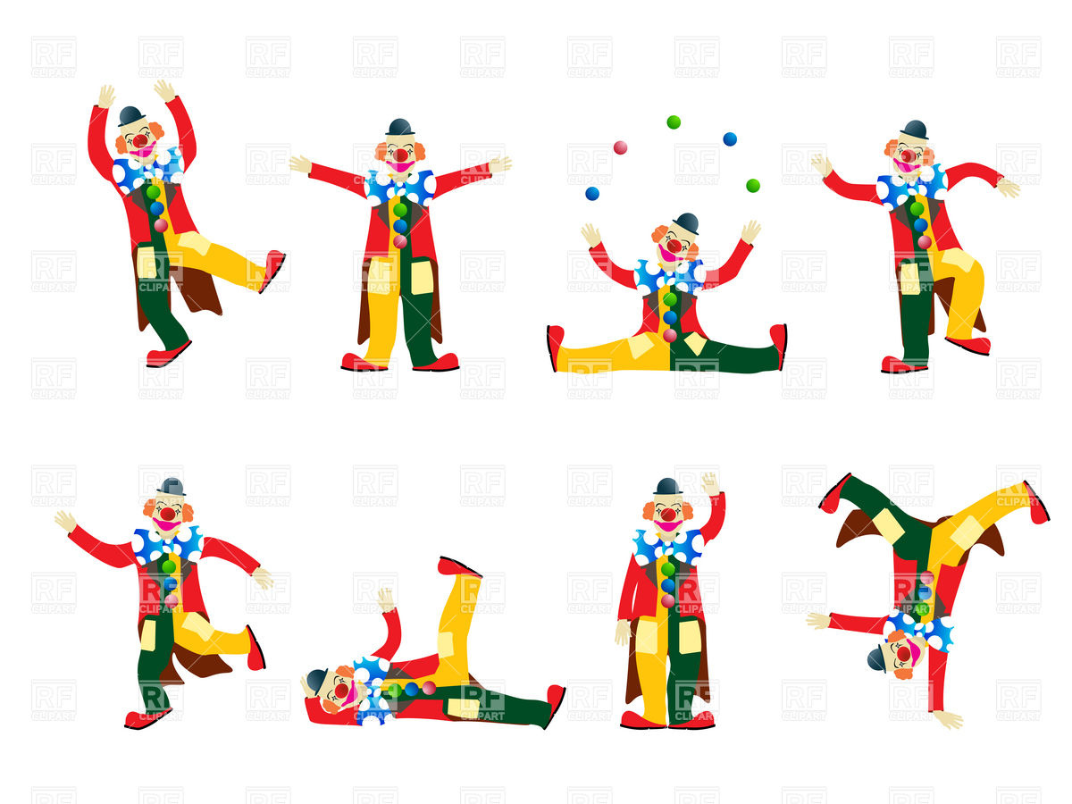 Clown Fooling About 16926 Download Royalty Free Vector Clipart  Eps