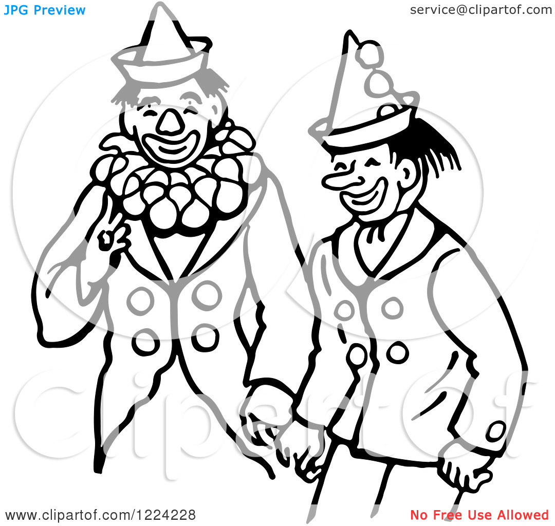 Cute Clown Clip Art Black And White Clipart Of Black And White Clowns