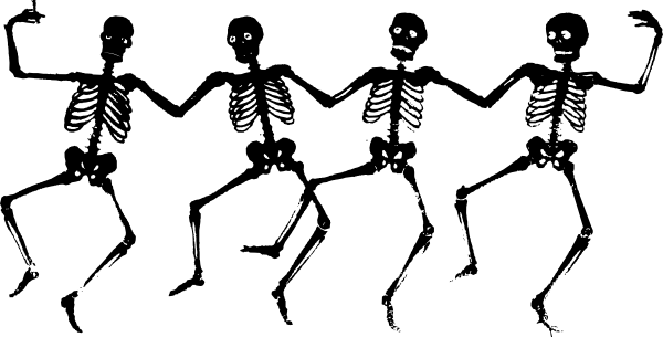 Dancing Skeletons Clip Art At Clker Com   Vector Clip Art Online