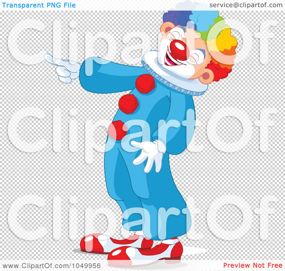 Free  Rf  Clip Art Illustration Of A Clown Laughing And Pointing