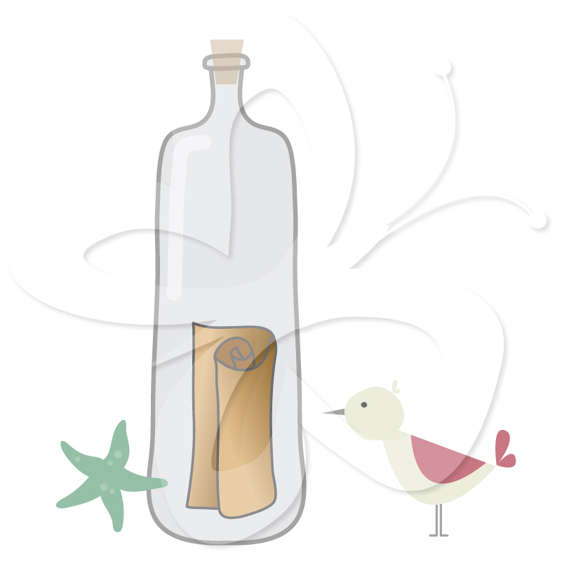Home   All Clip Art   Message In A Bottle Clipart
