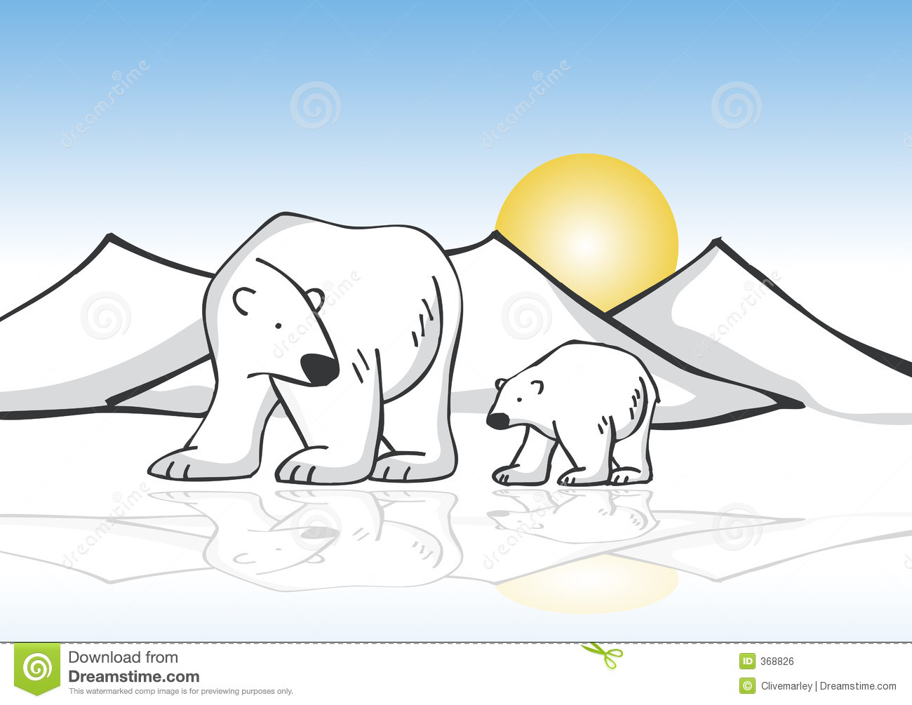 Polar Bear On Ice Clipart Wallpaper   Latest Auto News Update