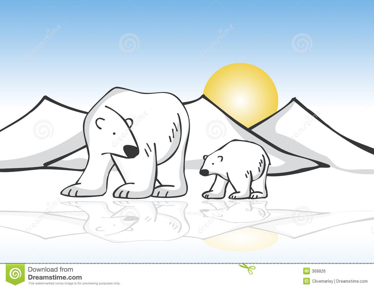 Polar Bear On Ice Clipart - Clipart Suggest