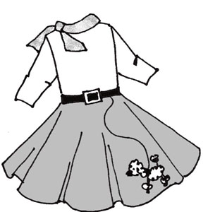 1950s Poodle Skirt Clipart - Clipart Kid