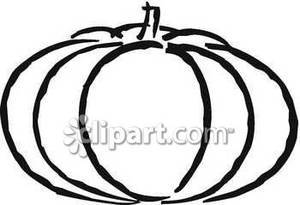 Pumpkin Outline Clipart Outline Fat Pumpkin Royalty Free 080831 225825