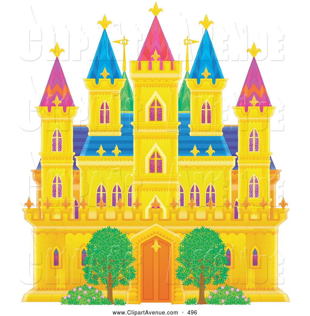 Royalty Free Castle Stock Avenue Clipart Illustrations