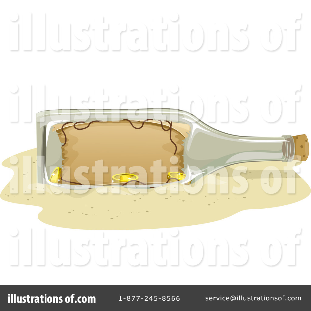 Royalty Free  Rf  Message In A Bottle Clipart Illustration  1251724 By