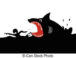 Shark Attack Illustrations And Clipart  817 Shark Attack Royalty Free