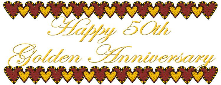 Golden Wedding Anniversary Clipart - Clipart Kid