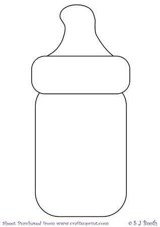 Baby Bottle Template   Designer Resources