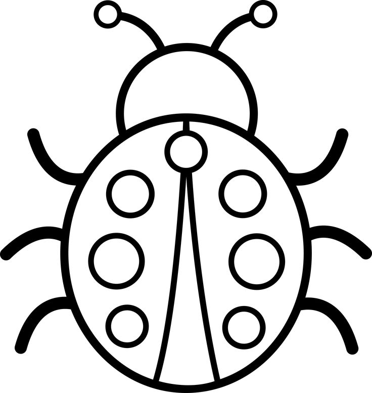 Black And White Pictures   Cute Colorable Ladybug   Free Clip Art More